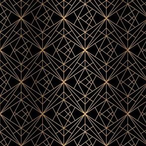 Golden Geometric Black