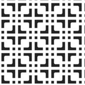 Black & white Chinese square grid