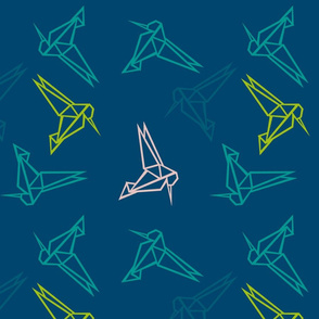 Origami Honeyeaters  blue