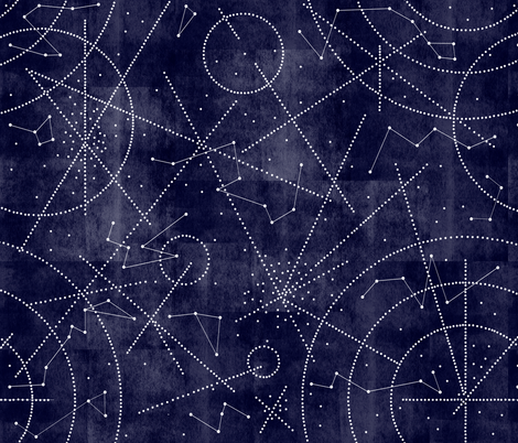 milky way dot to dot fabric by booboo_collective on Spoonflower - custom fabric