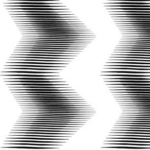 large scale zig zag black and white
