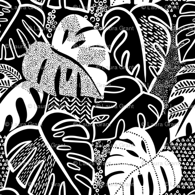 patterned monstera