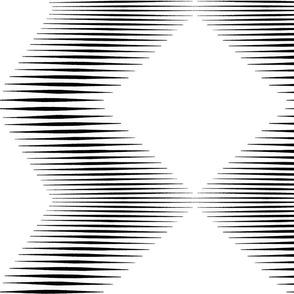 jumbo scale diamonds zig zag black and white
