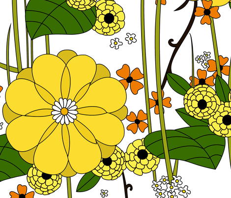 Marigold Garden fabric by lucy_elizabeth on Spoonflower - custom fabric