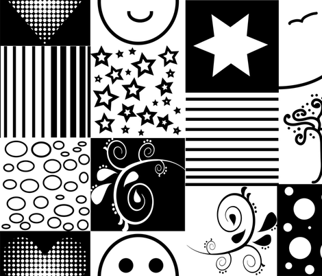 visual stimulation for babies, large scale fabric by samantha_woodford on Spoonflower - custom fabric