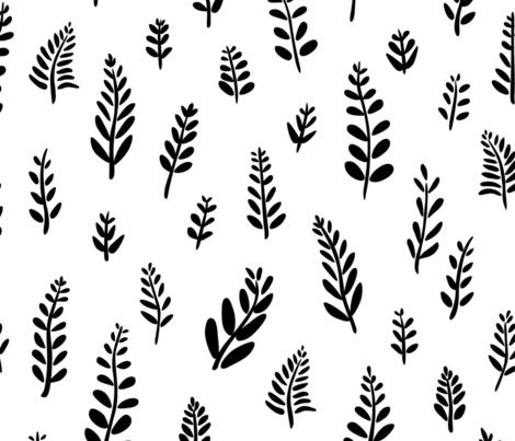 Kelly Field Black fabric by chris_jorge on Spoonflower - custom fabric
