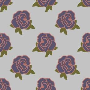 Rose Florals 02 (Pale Blue)