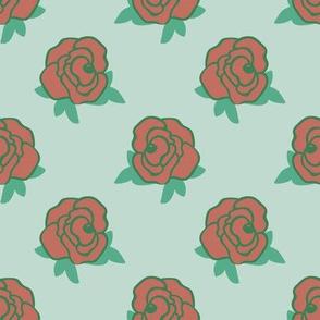 Rose Florals 03 (Mint Green)