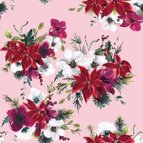 "8"" Christmas Dream Florals // Azalea Blush"