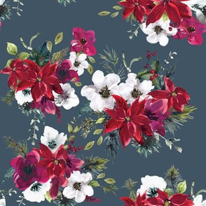 "8"" Christmas Dream Florals // Fiord"
