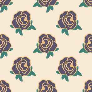 Rose Florals 04 (Warm Yellow)