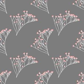Wispy Florals (Grey)
