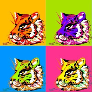 Pop Art Tigers