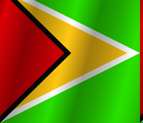 Flag of Guyana fabric by artpics on Spoonflower - custom fabric