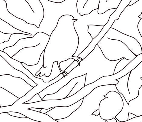 Birds and Branches fabric by helena_nilsson on Spoonflower - custom fabric