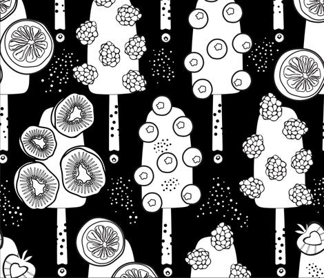 Berry ice cream fabric by inna_alborova on Spoonflower - custom fabric