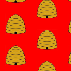 Beehive on Red