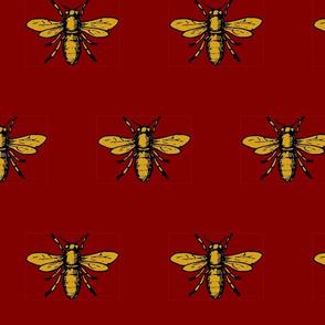 Bee on Burgundy