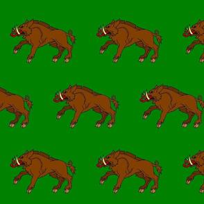 Boar on Green