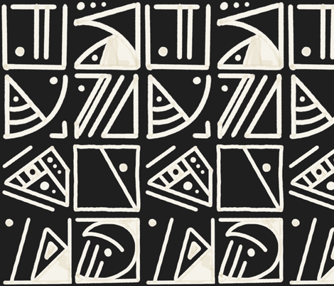 Multi Block Black and White fabric by trask_price_design on Spoonflower - custom fabric