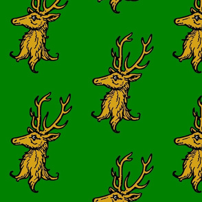 Stag Erased on Green