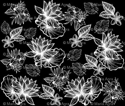 Flowers un black.