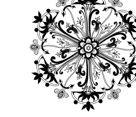Black&White fabric by stacystudios on Spoonflower - custom fabric