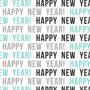 Happy New Year - multi blue
