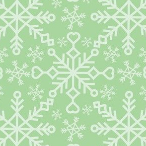 Snowflakes - Mint