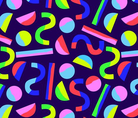 Angular (neon) fabric by amgroulx on Spoonflower - custom fabric