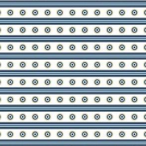 Circle Stripes Horizontal Indigo Lines Background