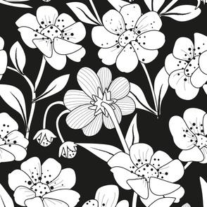 B/W Floral