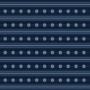 Indigo Blue Circle Stripes Horizontal Lines Background