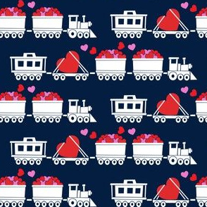 Love train - white on navy
