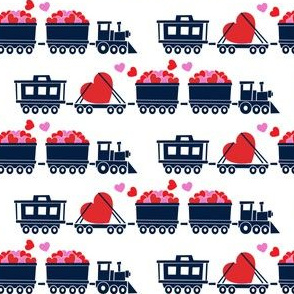 Love train - navy on white
