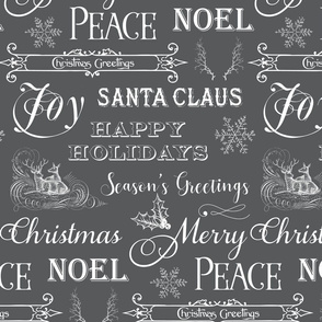 Christmas Typography, Christmas Greetings, Christmas Sayings