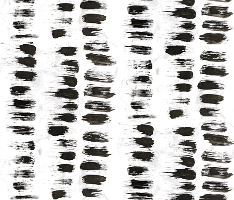 Short Strokes black & white fabric by colour_angel_by_kv on Spoonflower - custom fabric