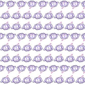 Sleepy purple bunny