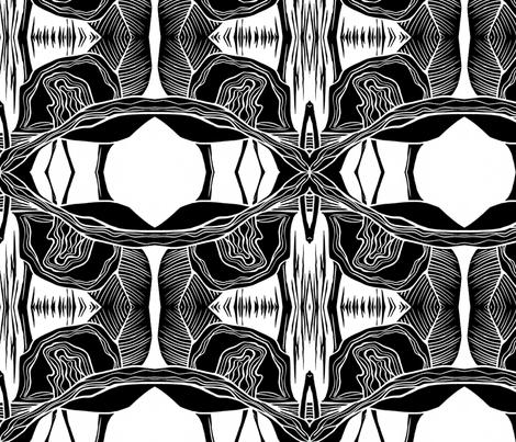 block print black copy fabric by bev_ on Spoonflower - custom fabric