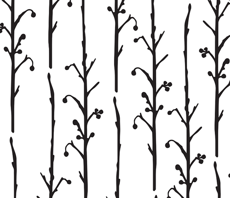 Berry Branches fabric by jenshepparddesigns on Spoonflower - custom fabric