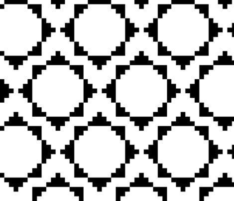 bold black and white fabric by dessineo on Spoonflower - custom fabric
