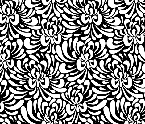 large abstract flowers fabric by vivdesign on Spoonflower - custom fabric