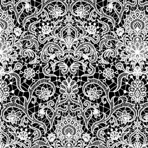vintage white lace