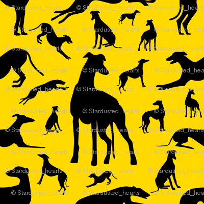 Greyt_Greyhound_Silhouettes_on_Yellow