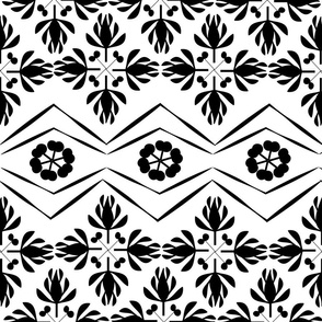 FLORAL WHITE AND BLACK 01