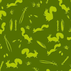 A Mess of Squirrels (forest's greens)