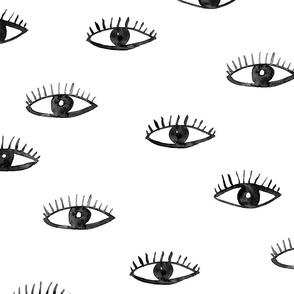 Big eyes watching you || watercolor