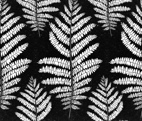 Fern_black and white fabric by sunny_lucy on Spoonflower - custom fabric