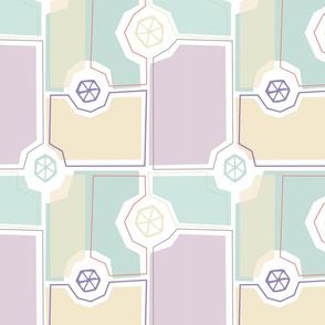 Abstract Pastel Repeat Pattern