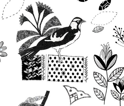 Visitors To My Garden fabric by daniela_glassop on Spoonflower - custom fabric